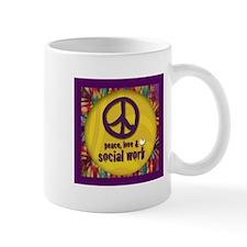 Peace, Love, & Social Work Mug