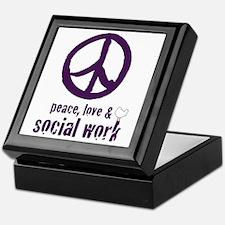 Peace, Love & Social Work Keepsake Box