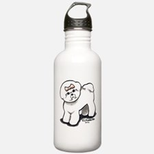 Girly Bichon Frise Water Bottle