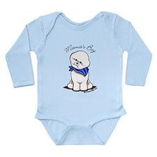 Bichon Mama's Boy Long Sleeve Infant Bodysuit
