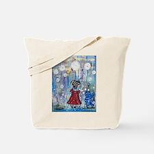Funny Modern cat art Tote Bag