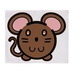 Brown Mousie Throw Blanket