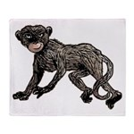Creepy Monkey Throw Blanket