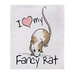 I Love My Fancy Rat Throw Blanket