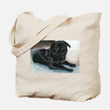 Pug Puppy Head Up Tote Bag