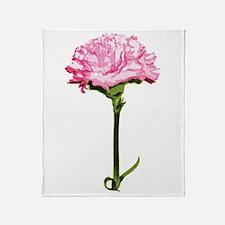 Pink Carnation Throw Blanket