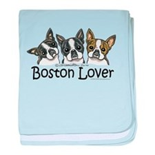 Boston Lover baby blanket