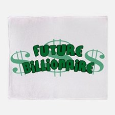 Future Billionaire Throw Blanket