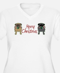 Candy Cane Fawn and Black T-Shirt