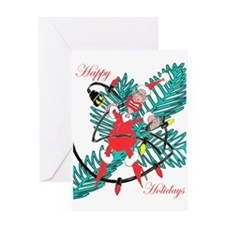 Happy Holiday Elf Greeting Card