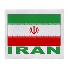 Iran Flag Throw Blanket