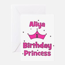 1st Birthday Princess Aliya! Greeting Card