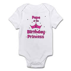 Papa of the 1st Birthday Prin Infant Bodysuit