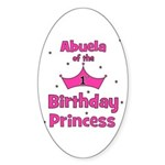 Abuela of the 1st Birthday Pr Sticker (Oval)
