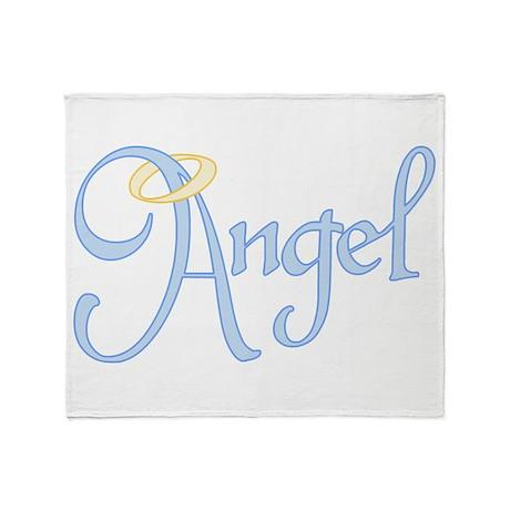 Angel Text Throw Blanket