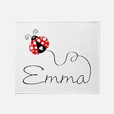 Ladybug Emma Throw Blanket
