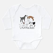Playful Goat Kids Long Sleeve Infant Bodysuit