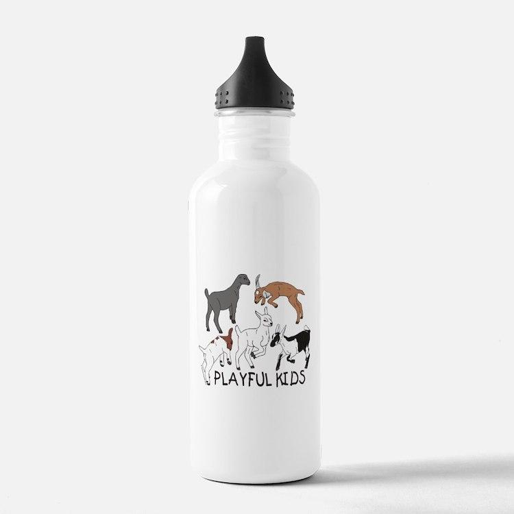 Playful Goat Kids Water Bottle