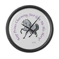 Keep Prince Charming Large Wall Clock
