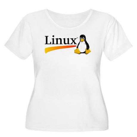 Linux Logo Women's Plus Size Scoop Neck T-Shirt