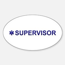 EMS Supervisor Sticker (Oval)