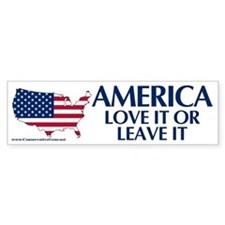 America, Love it or Leave it Bumper Bumper Sticker