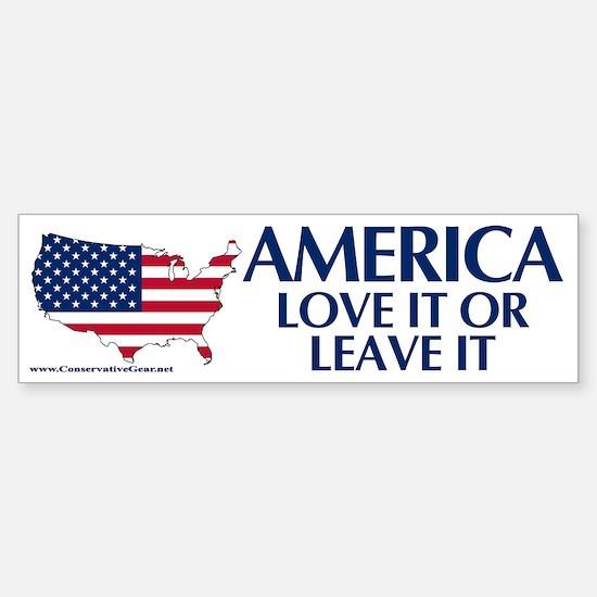 America, Love it or Leave it Bumper Bumper Sticker
