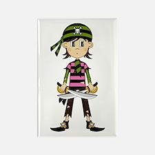 Little Bandana Pirate Rectangle Magnet