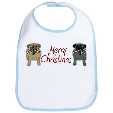 Candy Cane Fawn and Black Bib