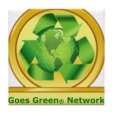 Goes Green Items Tile Coaster