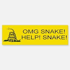 OMG SNAKE Bumper Bumper Sticker