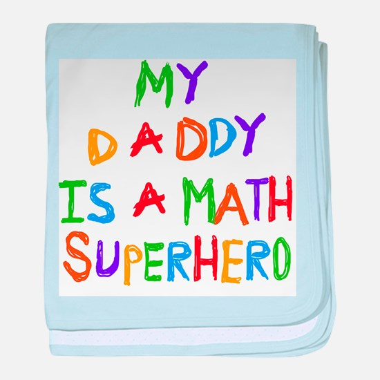 Daddy Math Superhero baby blanket