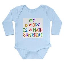 Daddy Math Superhero Long Sleeve Infant Bodysuit