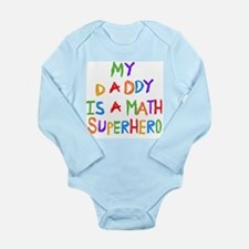 Daddy Math Superhero Long Sleeve Infant Bodysuit
