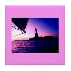 Statue of Liberty New York Tile Coaster Trivet