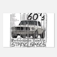 60'S Mustang Specs Postcards (Package of 8)