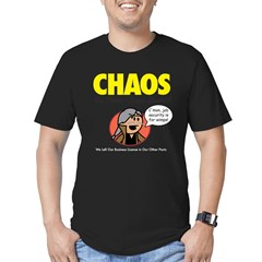 CHAOS Men's Fitted T-Shirt (orange)