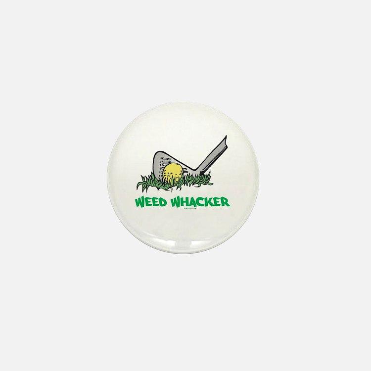 Weed Whacker Sports Mini Button