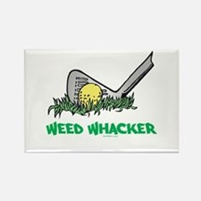 Weed Whacker Sports Rectangle Magnet