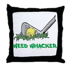 Weed Whacker Sports Throw Pillow