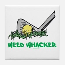 Weed Whacker Sports Tile Coaster