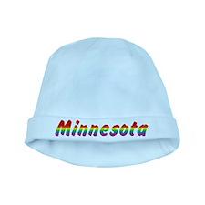 Rainbow Minnesota Text baby hat