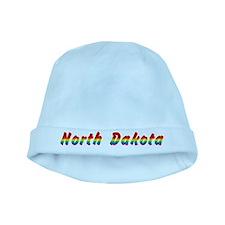 Rainbow North Dakota Text baby hat