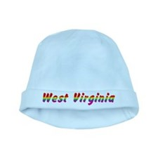 Rainbow West Virginia Text baby hat