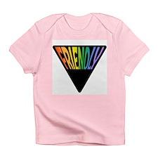 Gay Friendly Rainbow Triangle Infant T-Shirt