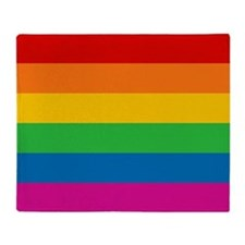 Gay Pride Rainbow Flag Throw Blanket