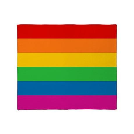 Gay Pride Rainbow Flag Throw Blanket