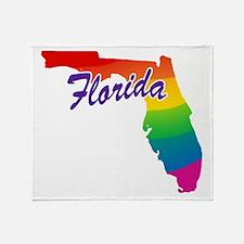 Gay Pride Rainbow Florida Throw Blanket