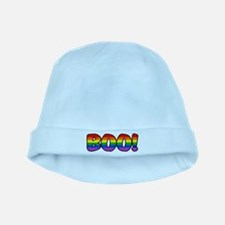 Halloween Rainbow BOO baby hat