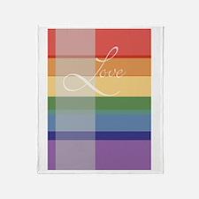 Mod Rainbow Love Throw Blanket